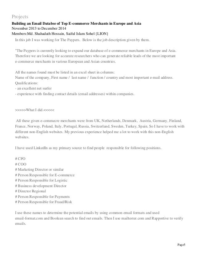 proper resume template 5 - Wwwresume Formatcom