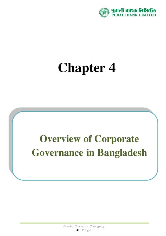 corporate governance practices in bangladesh special Corporate governance in bangladesh covering issues of setting the scene - sources and overview,shareholders,management body and management.