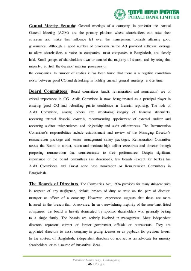 """management pattern of pubali bank ltd Internship report on loans and advances of pubali bank limited  """"credit management"""" – a study on pubali bank limited, pahartali branch, chittagong  when the repayment pattern of the advance is such that continuance of the facility."""