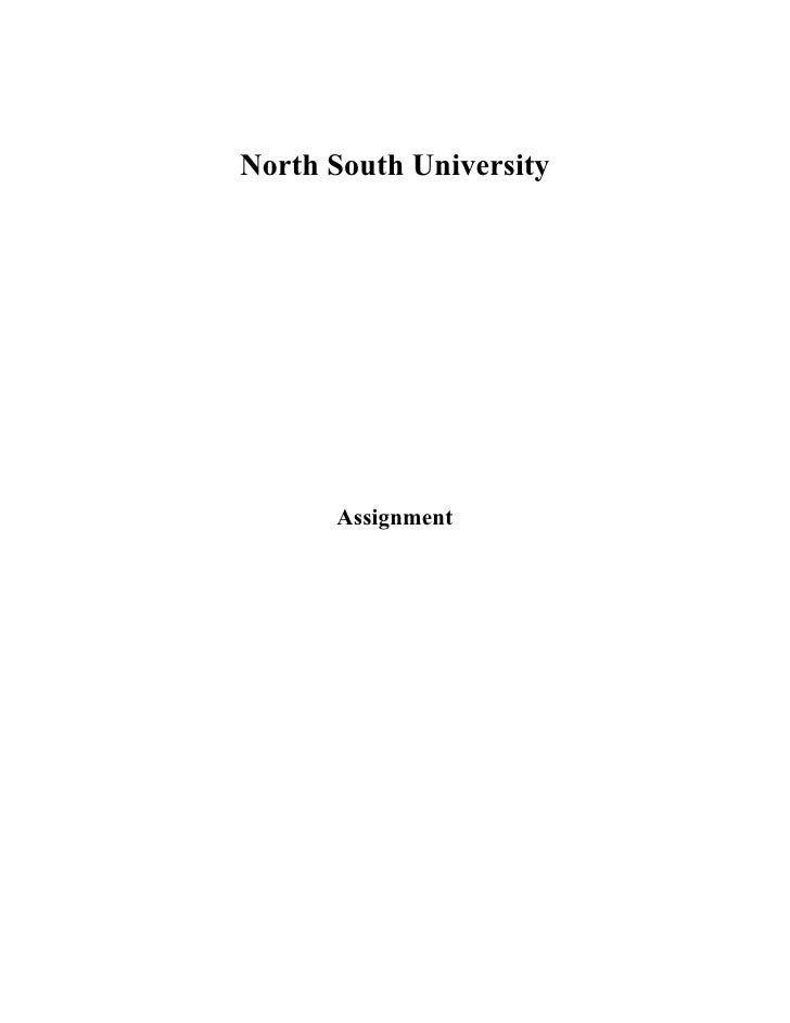 North South University           Assignment