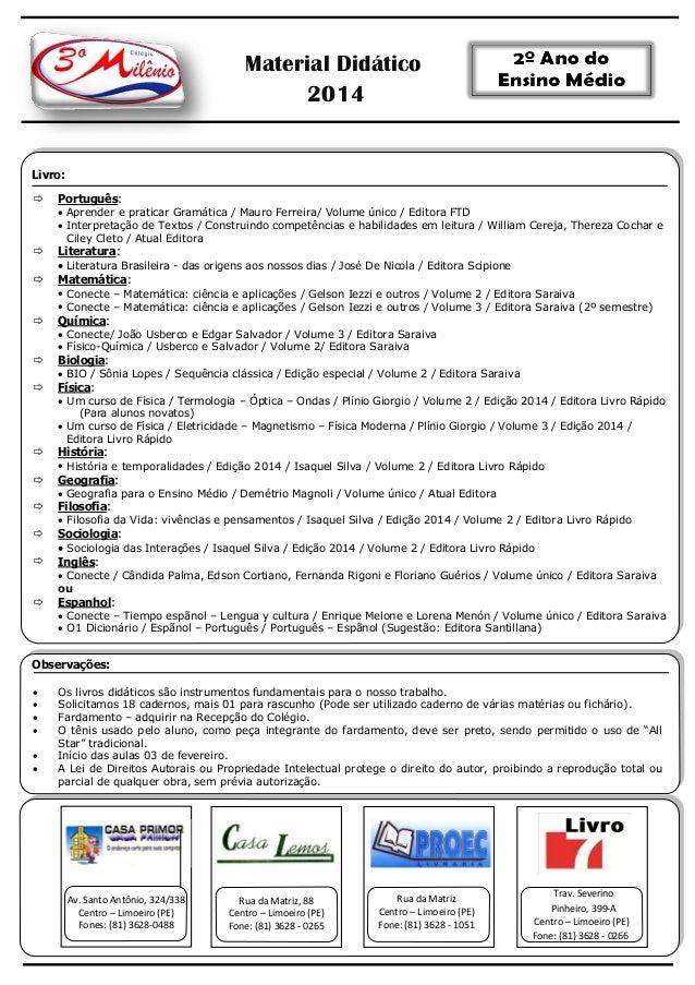 Material Didático 2014  Livro:   Português:  Aprender e praticar Gramática / Mauro Ferreira/ Volume único / Editora FTD ...