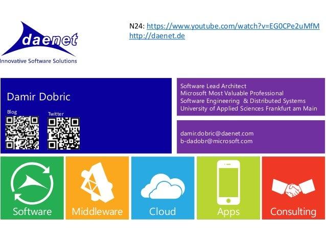 CloudAppsCloud CloudConsultingCloudAppsMiddlewareCloudAppsMiddlewareSoftware Damir Dobric damir.dobric@daenet.com b-dadobr...