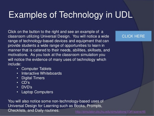 Universal Design Classroom Examples ~ Universal design for learning presentation