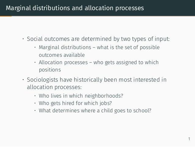 Mechanism Design and Marginal Distributions Slide 2