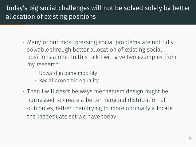 Mechanism Design and Marginal Distributions Slide 3