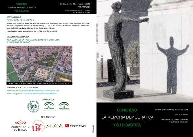 9325696 CONGRESOCONGRESO LA MEMORIALA MEMORIA DEMOCRÁTICADEMOCRÁTICA Y SU DIDÁCTICAY SU DIDÁCTICA CONGRESOCONGRESO LA MEMO...