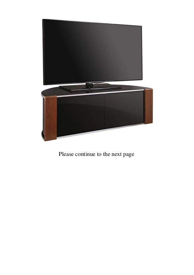 MDA Designs Remote Friendly Beam Thru Glass Door WalnutHigh Gloss Piano Black with Brushed Aluminium Trim 40-52 LCDPlasmaLED Cabinet TV Stand  Slide 2