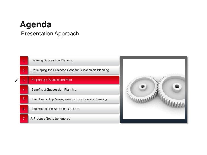 Agenda    Presentation Approach    1   Defining Succession Planning    2   Developing the Business Case for Succession Pla...