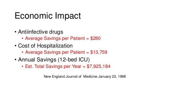 • Antiinfective drugs • Average Savings per Patient = $280 • Cost of Hospitalization • Average Savings per Patient = $13,7...