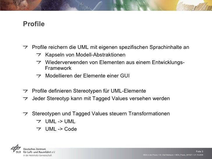 MDA in der Praxis - Modelltransformation und Code-Generierung mit dem Enterprise Architect Slide 3