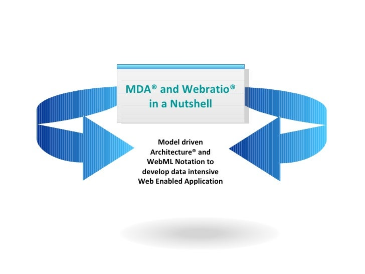 MDA® and Webratio® in a Nutshell Model driven Architecture® and WebML Notation to develop data intensive Web Enabled Appli...