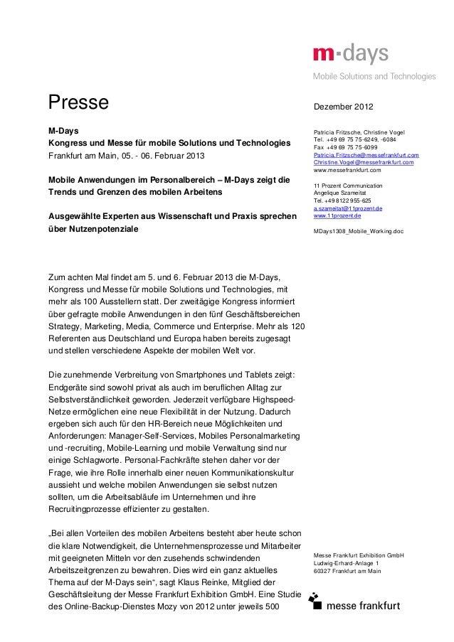 Presse                                                                Dezember 2012M-Days                                 ...