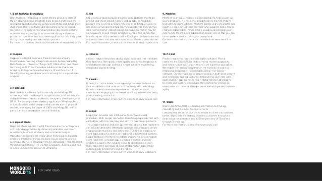 MongoDB World 2016 Giant Ideas Stage eBook