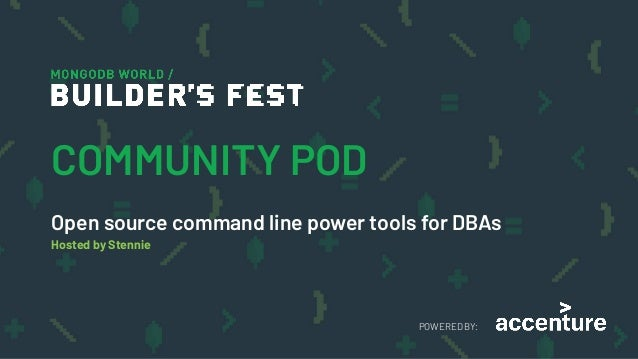 MongoDB World 2019: Open source command-line power tools for