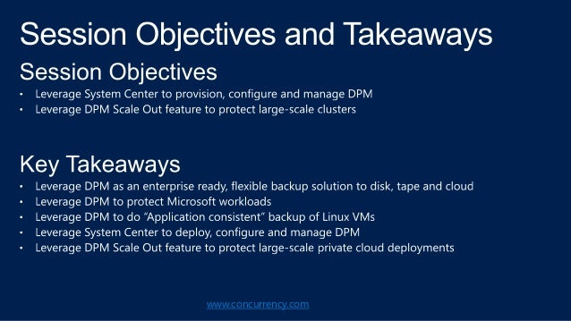 TechEd 2013 Presentation: Automate Private Cloud Protection and Recovery Slide 3