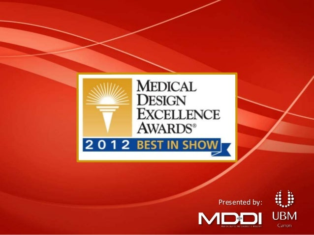 Medical Design Excellence Awards 2012 Winners
