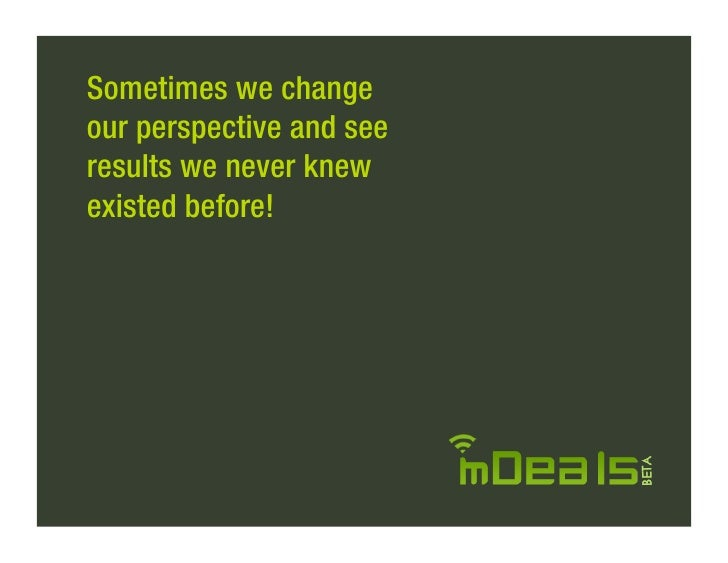 Sometimes we change our perspective and see results we never knew existed before!