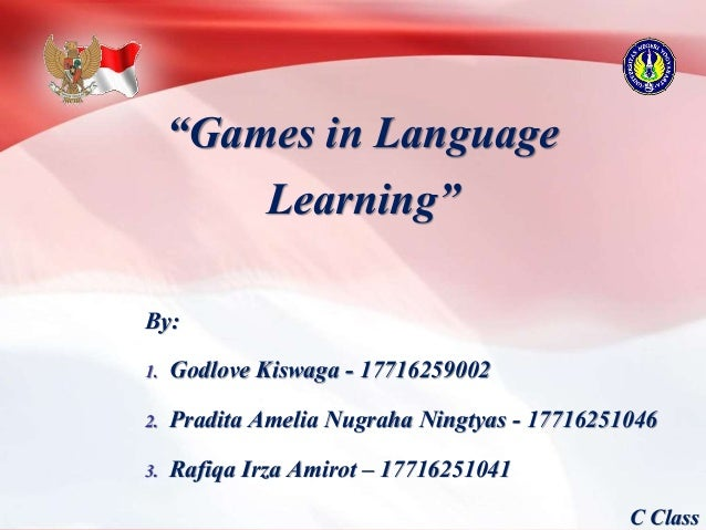 MDELT - Group 7 of C Class 2017 - Games in Language Learning