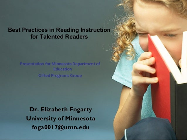 Reading instruction best practices.
