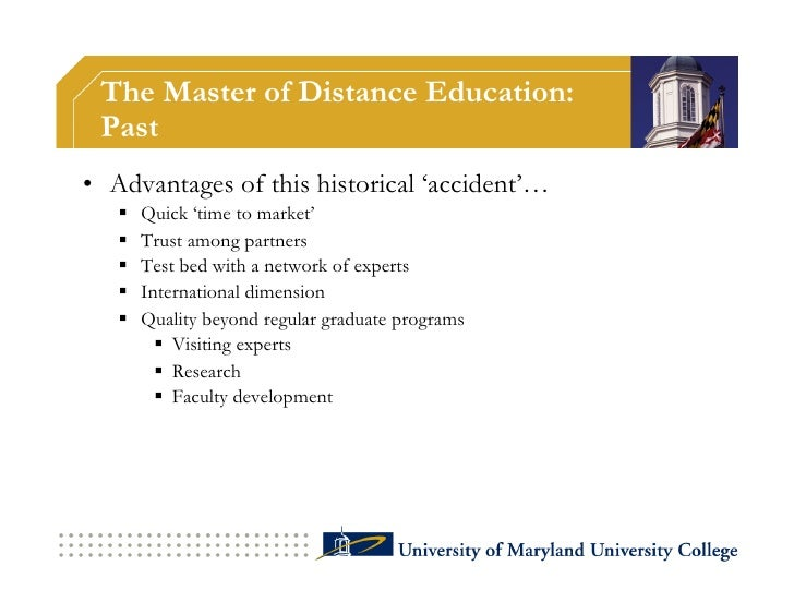 The Master of Distance Education: Present - Mission                         Corporate                         Training &  ...