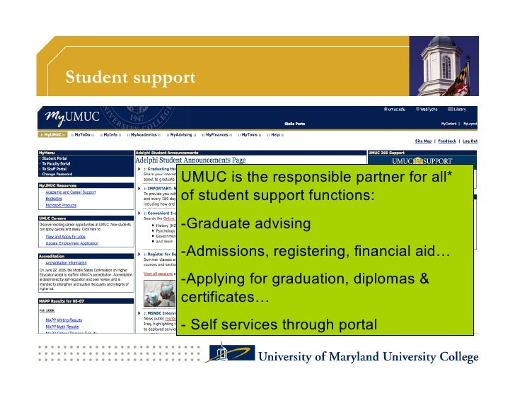 Faculty support: services  • Recruitment • Training: getting certified to teach online • Professional development: cont...