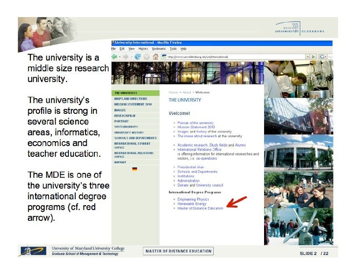 The Master of Distance Education:  Past • Advantages of this historical 'accident'…       Quick 'time to market'     ...