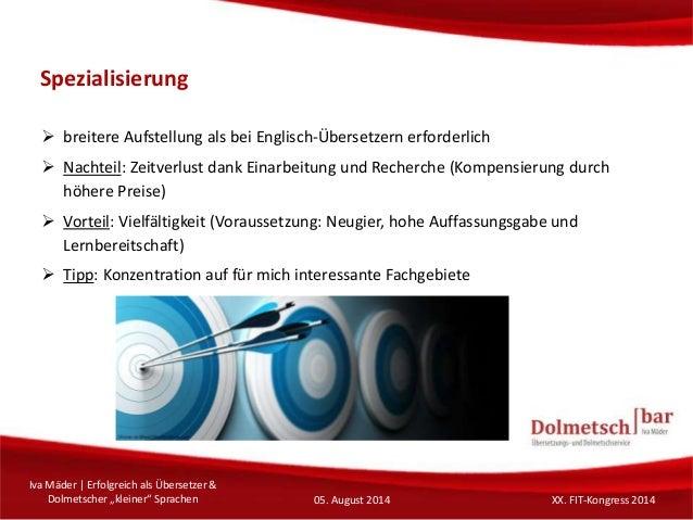 """Erfolgreich als Übersetzer & Dolmetscher """"kleiner"""" Sprachen"""
