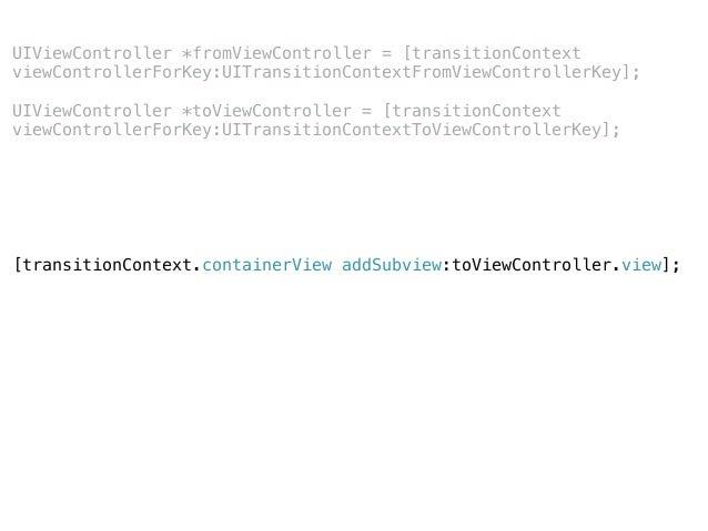 initialFrameForViewController finalFrameForViewController from CGRectZero to CGRectZero