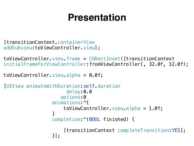 Interactive Transitions