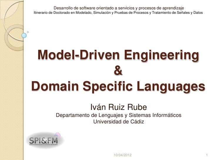Desarrollo de software orientado a servicios y procesos de aprendizajeItinerario de Doctorado en Modelado, Simulación y Pr...
