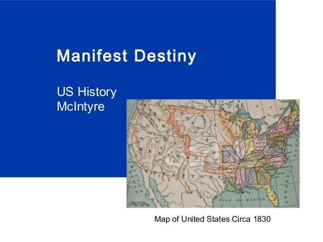 Manifest Destiny US History McIntyre Map of United States Circa 1830