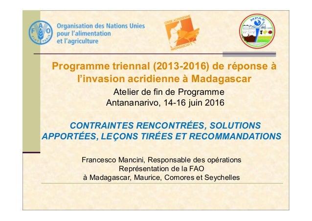 programmes de rencontres 2016