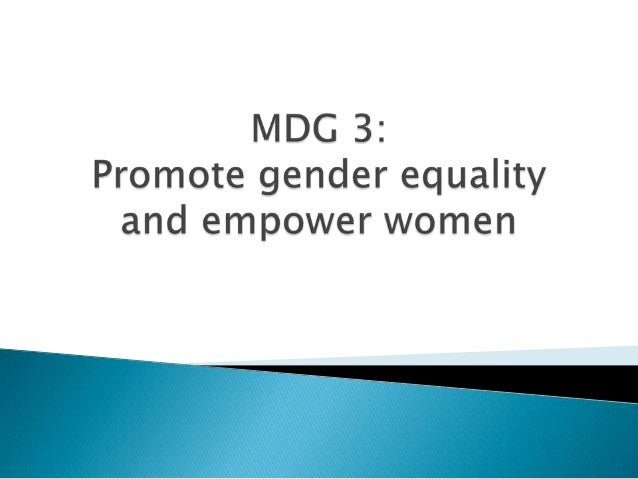 Improving gender equality and empowering women are pathways to making sustainable human development and to achieving other...