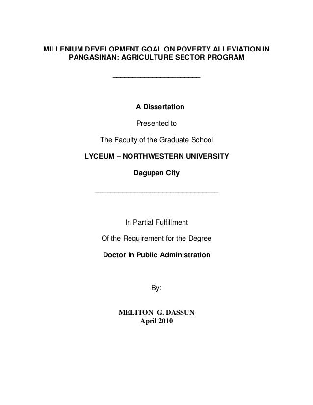 Phd thesis in development administration