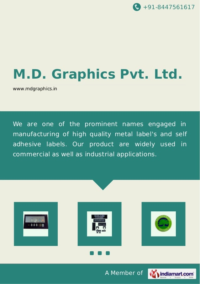 +91-8447561617  M.D. Graphics Pvt. Ltd. www.mdgraphics.in  We are one of the prominent names engaged in manufacturing of h...