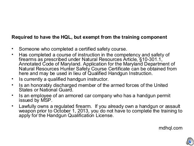 Maryland Department Of Natural Resources Hunter Safety Course