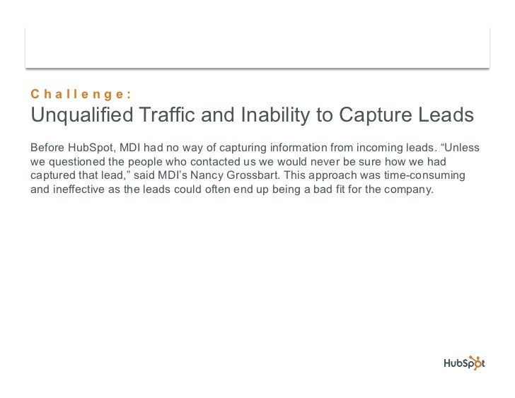 Flexible Foam Company MDI Drops Pay-Per-Click and Saves Time with HubSpot Slide 3