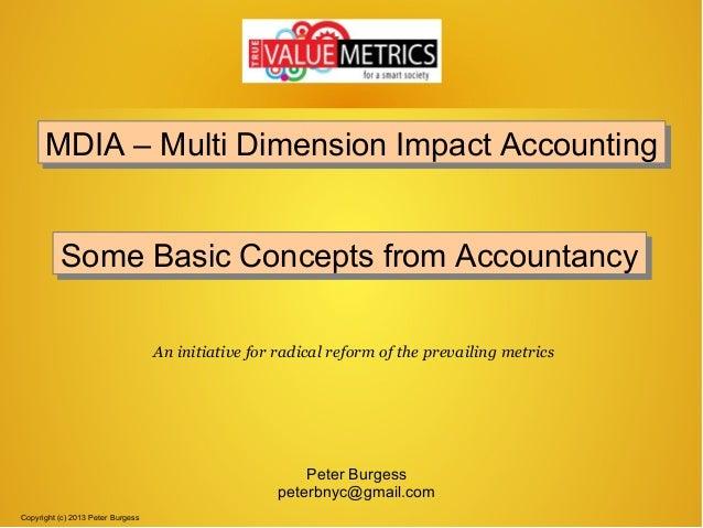 MDIA – Multi Dimension Impact Accounting MDIA – Multi Dimension Impact Accounting Some Basic Concepts from Accountancy Som...