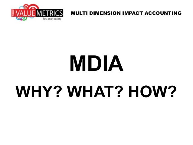 MDIA WHY? WHAT? HOW? MULTI DIMENSION IMPACT ACCOUNTING