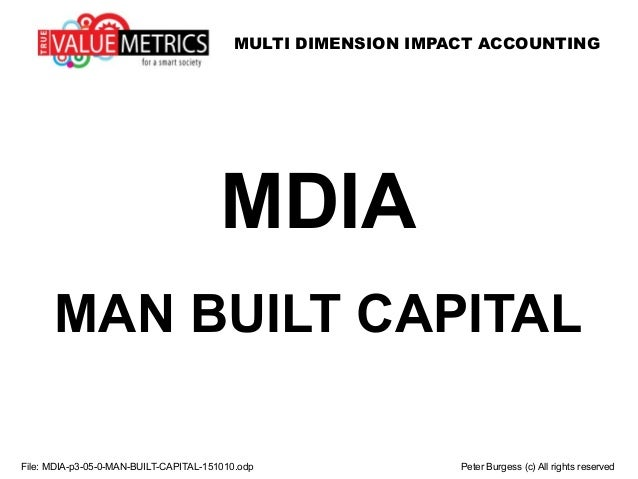 MULTI DIMENSION IMPACT ACCOUNTING File: MDIA-p3-05-0-MAN-BUILT-CAPITAL-151010.odp Peter Burgess (c) All rights reserved MD...