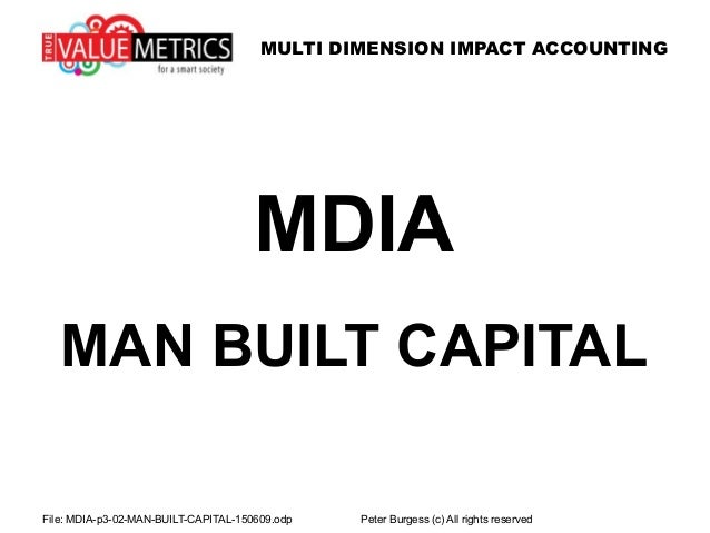 MULTI DIMENSION IMPACT ACCOUNTING File: MDIA-p3-02-MAN-BUILT-CAPITAL-150609.odp Peter Burgess (c) All rights reserved MDIA...