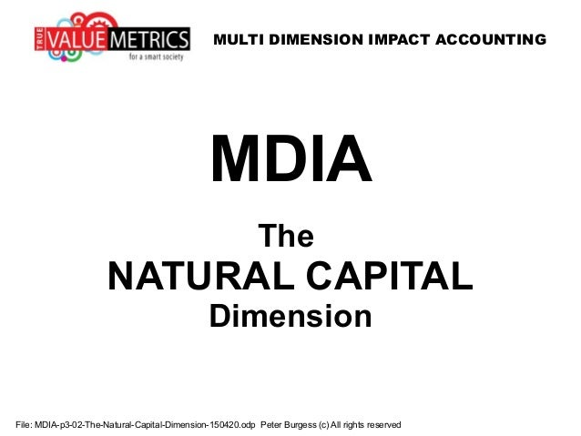 MULTI DIMENSION IMPACT ACCOUNTING File: MDIA-p3-02-The-Natural-Capital-Dimension-150420.odp Peter Burgess (c) All rights r...