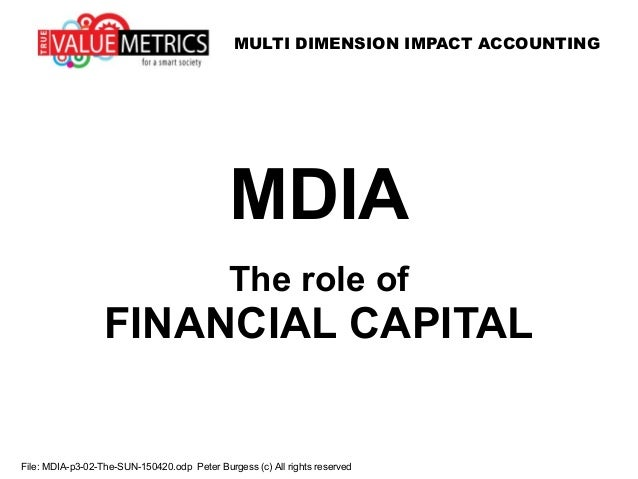 MULTI DIMENSION IMPACT ACCOUNTING File: MDIA-p3-02-The-SUN-150420.odp Peter Burgess (c) All rights reserved MDIA The role ...
