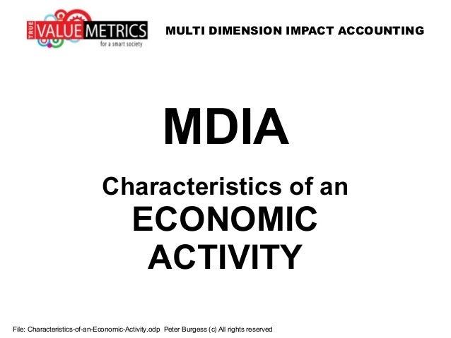 MULTI DIMENSION IMPACT ACCOUNTING File: Characteristics-of-an-Economic-Activity.odp Peter Burgess (c) All rights reserved ...