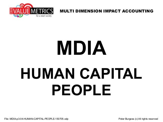 MULTI DIMENSION IMPACT ACCOUNTING File: MDIA-p3-04-HUMAN-CAPITAL-PEOPLE-150705.odp Peter Burgess (c) All rights reserved M...