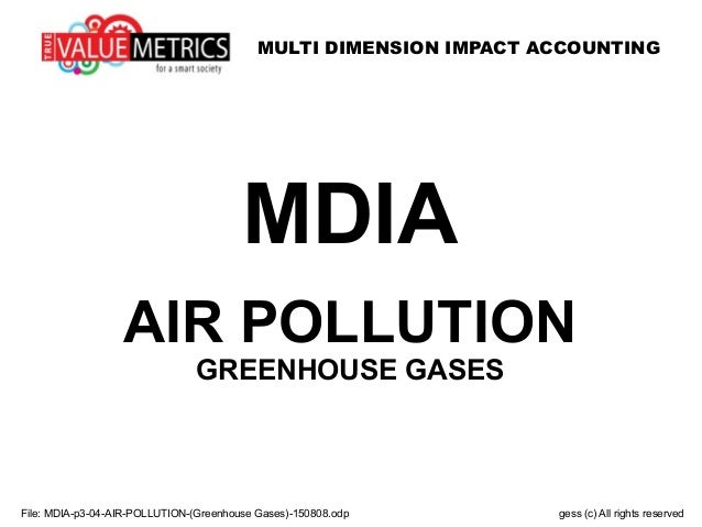 MULTI DIMENSION IMPACT ACCOUNTING File: MDIA-p3-04-AIR-POLLUTION-(Greenhouse Gases)-150808.odp gess (c) All rights reserve...