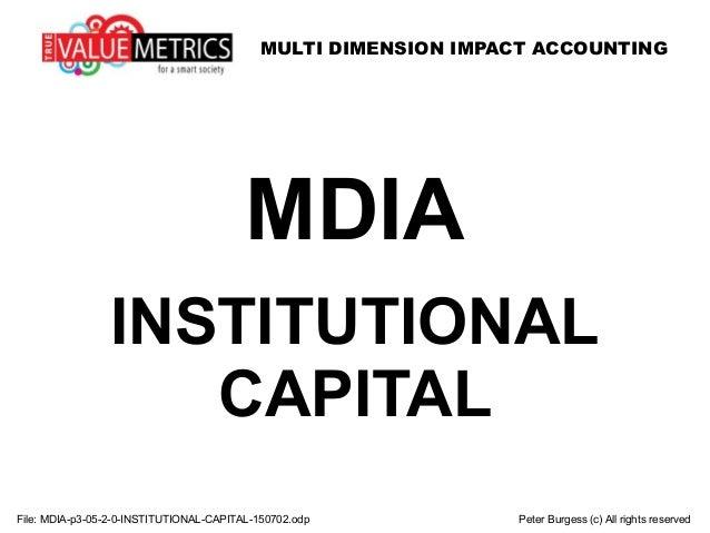 MULTI DIMENSION IMPACT ACCOUNTING MDIA INSTITUTIONAL CAPITAL File: MDIA-p3-05-2-0-INSTITUTIONAL-CAPITAL-150702.odp Peter B...