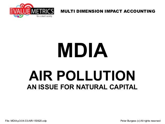 MULTI DIMENSION IMPACT ACCOUNTING File: MDIA-p3-04-33-AIR-150620.odp Peter Burgess (c) All rights reserved MDIA AIR POLLUT...