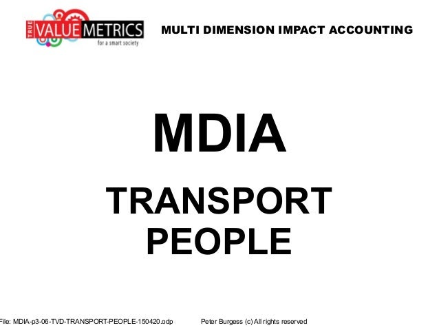 MULTI DIMENSION IMPACT ACCOUNTING File: MDIA-p3-06-TVD-TRANSPORT-PEOPLE-150420.odp Peter Burgess (c) All rights reserved M...