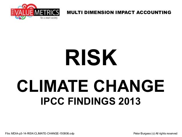 MULTI DIMENSION IMPACT ACCOUNTING File: MDIA-p3-14-RISK-CLIMATE-CHANGE-150806.odp Peter Burgess (c) All rights reserved RI...